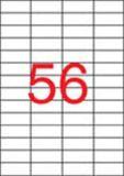 Etiketa, ILC, 52,5x21,2 mm, čtyřřadé, 5600 ks/bal., APLI ,balení 100 ks