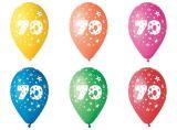 Balónek, s číslem 70, 26 cm ,balení 5 ks