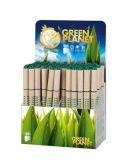 Kuličkové pero Green, papírové tělo, s uzávěrem, 64ks, modrá, ICO