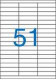 Etiketa, ILC, 70x16,9 mm, třířadé, 5100 ks/bal., VICTORIA ,balení 100 ks