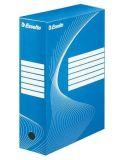 Archivační krabice Boxycolor, modrá, 100 mm, A4, karton, ESSELTE