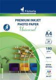 Fotografický papír Universal, do inkoustové tiskárny, matný, A4, 180g, VICTORIA ,balení 20 ks