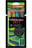 Pastelky GreenColors ARTY, 12 různých barev, šestihranná, STABILO