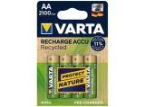Nabíjecí baterie, AA, tužková, recyklovaná, 4x2100 mAh, VARTA