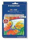 Barevné pastelky Noris Club, 36 barev, sada, šestihranné, STAEDTLER