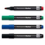 Sada permanentních popisovačů, 4 různé barvy, 1-3 mm, kuželovitý, SIGEL ,balení 4 ks