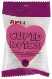 Samolepicí bloček Cupid notes, tvar srdce, 200 listů, APLI ,balení 200 ks
