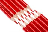 Barevná pastelka, červená, trojúhelníkový tvar, 12 ks, NEBULO