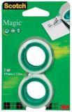 Lepicí páska Magic Tape 810, 19mm x 7,5m, 3M/ SCOTCH ,balení 2 ks