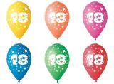 Balónek, s číslem 18, 26 cm ,balení 5 ks