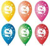 Balónek, s číslem 9, 26 cm ,balení 5 ks
