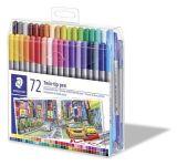 Fixy Design Journey, 72 různých barev, sada, oboustranné, 0,8/3,0 mm, STAEDTLER