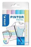 Set dekorativních popisovačů Pintor F, pastelová, 6 barev, 1 mm, PILOT