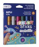 Temperové tyčinky Kids, 6 různých metalických barev, APLI  ,balení 6 ks