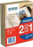 S042167 Fotografický papír, do inkoustové tiskárny, 10x15, 255 g, leský, 2x40m, EPSON ,balení 80 ks