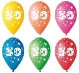 Balónek, s číslem 30, 26 cm ,balení 5 ks