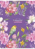 Sešit Colourful, čtverečkovaný, mix, A4, 80 listů, SHKOLYARYK