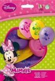 Balónek Minnie, 26 cm ,balení 10 ks