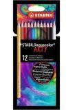 Akvarelové pastelky Aquacolor ARTY, 12 různých barev, STABILO