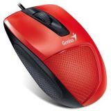 Myš DX-150X, červená, drátová, optická, standardní velikost, USB, GENUIS