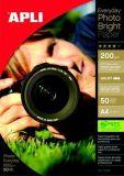Fotografický papír Everyday, do inkoustové tiskárny, lesklý, A4, 200g, APLI ,balení 50 ks
