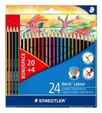 Barevné pastelky Noris Colour, 20+4 mix barev, šestihranné, STAEDTLER