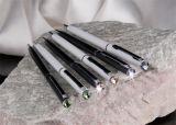 Kuličkové pero s peridot zelenými krystaly SLIM-MADE WITH SWAROVSKI ELEMENTS, černá, 13 cm,