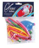 Balónky, tvarovatelné, s pumpičkou, mix barev ,balení 10 ks