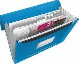 Aktovka s držadlem a 6 přihrádkami, Vivida modrá, A4, plast, ESSELTE