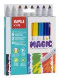 Fixy Kids Magic, 6+2 mix barev, 7,5 mm, APLI