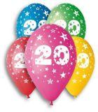 Balónek, s číslem 20, 26 cm ,balení 5 ks