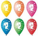 Balónek, s číslem 1, 26 cm ,balení 5 ks