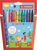 Fixy voňavé, Trio Frutti, 12 barev, STABILO