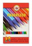 Barevné pastelky Progresso 8758/24, 24ks, bez dřeva, KOH-I-NOOR
