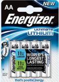 Baterie, AA (tužková), 4 ks, lithiová, ENERGIZER Ultimate Lithium