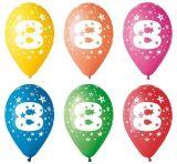 Balónek, s číslem 8, 26 cm ,balení 5 ks