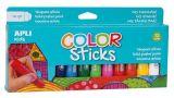 Temperové tyčinky Kids, 12 různých barev, APLI  ,balení 12 ks