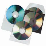 CD obálka, samolepicí, s klopou, 127x127mm, 100ks, 3L ,balení 100 ks