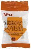 Samolepicí bloček Arrow notes, tvar šipky, 200 listů, APLI ,balení 200 ks