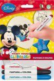 Balónek Mickey Mouse, vybarvitelný, s fixou, 26 cm ,balení 8 ks