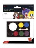 Barvy na obličej, s houbičkou, 7 různých barev