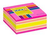 Samolepicí bločky Stick´n by Hopax - 76 x 76 mm / 400 lístků / neon mix růžová