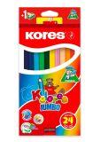 Pastelky trojhranné Kores JUMBO - 24 barev