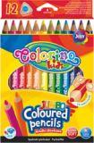 Pastelky trojhranné - 12 barev / jumbo