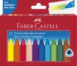 Pastelky voskové trojboké - 12 barev