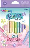 Popisovače Colorino pastelové / oboustranné / 10 barev