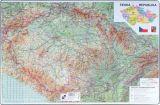 Pracovní podložky dekorované - jednostranná / mapa Česká republika