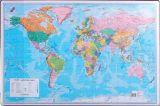 Pracovní podložky dekorované - jednostranná / mapa svět