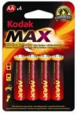 Baterie Kodak alkalické - baterie tužková AA 1,5 V / 4 ks