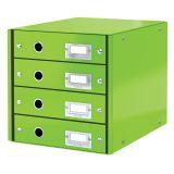 Zásuvkový box WOW - zelená / 4 zásuvky / karton